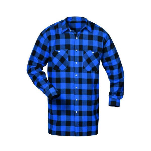 MICHIGAN Flanell-Hemd, Holzfällerhemd blau schwarz kariert Gr. M-XXXXL