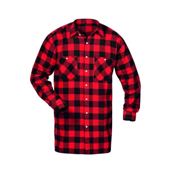SONORA Flanell-Hemd, Holzfällerhemd rot schwarz kariert Gr. M-XXXXL