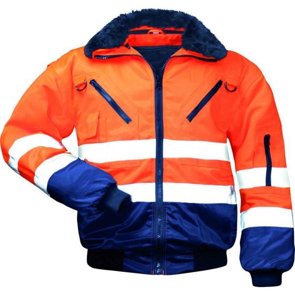 NORWAY 23649 Pilotenjacke Orange Marine, Gr. S - XXXL