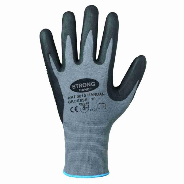 Handschuh HANDAN genoppt nahtlos EN388 flexibel griffig Arbeitshandschuh Gr.8-11