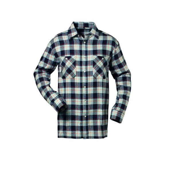 OHIO Flanell-Hemd, Holzfällerhemd rot marine hellblau kariert Gr. M-XXXXL